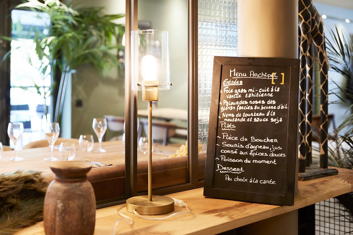 Exemple de menu du restaurant Fouesnant