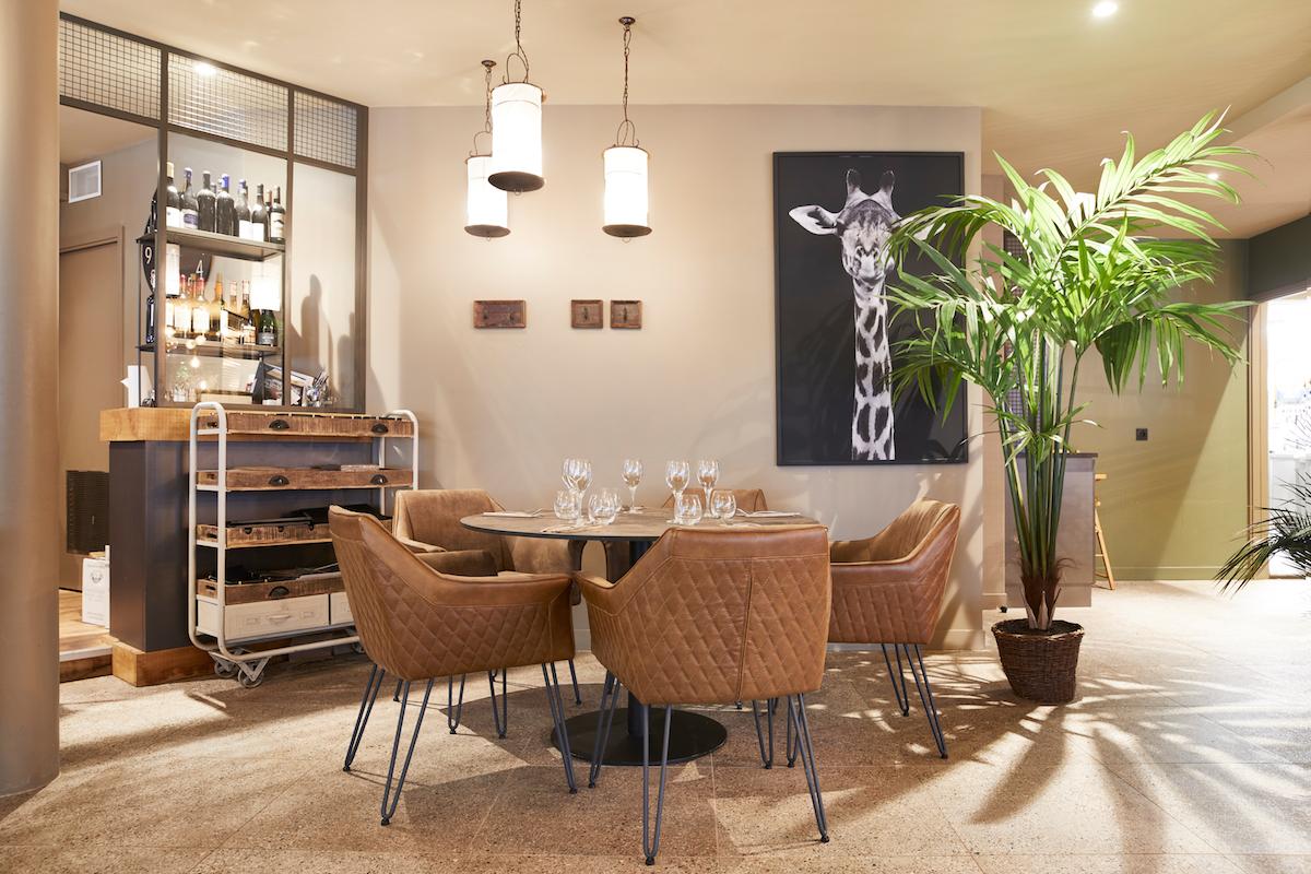 Intérieur relaxant restaurant Fouesnant