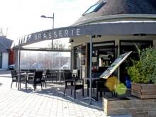 La terrasse du restaurant à Fouesnant
